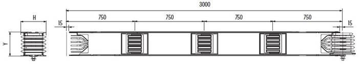 Конструкция шинопровода. Прямая распределительная секция