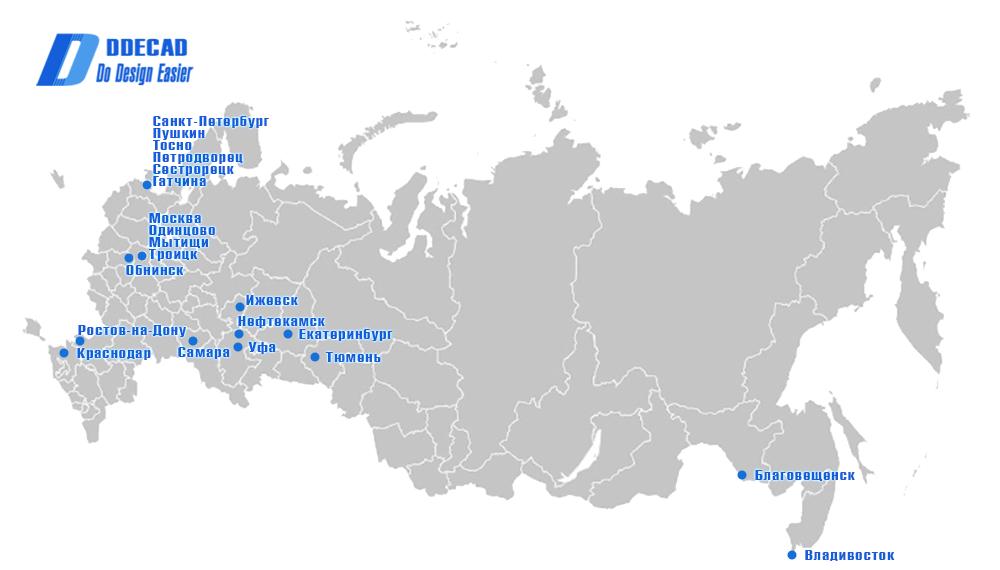 Карта пользователей программы DDECAD