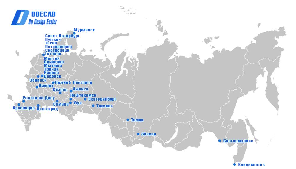 Карта пользователей DDECAD