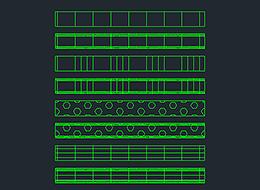 Динамический блок лотка AutoCAD